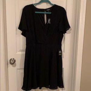 Express Faux-Wrap Midi Dress-NWT | Size 16